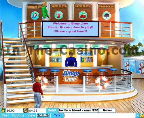 Screenshot of Bingo Liner