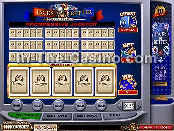 10-line Jacks Or Better at Cameo Casino