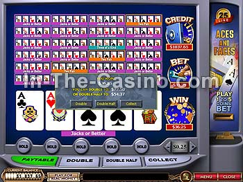 25-line Aces And Faces at Cameo Casino