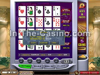 4-line Aces And Faces at Cameo Casino
