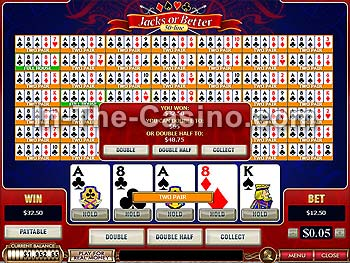 50-line Jacks Or Better at Cameo Casino