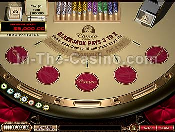 Blackjack Progressive at Cameo Casino