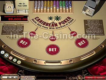 Caribbean Poker at Cameo Casino