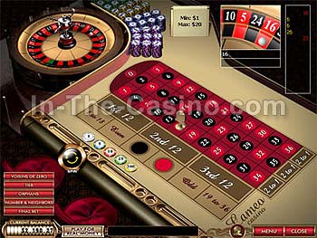 European Roulette at Cameo Casino