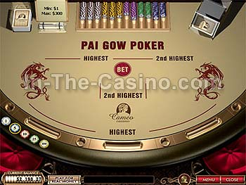 Pai Gow Poker at Cameo Casino