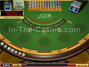 Blackjack Progressive at Del Rio Casino