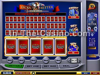 10-line Jacks Or Better en Europa Casino
