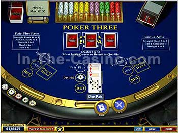 Poker Three at Europa Casino