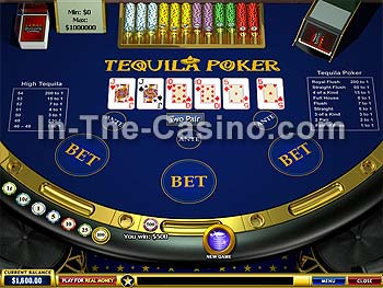 Tequila Poker at Europa Casino