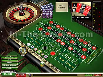 European Roulette at Tropez Casino