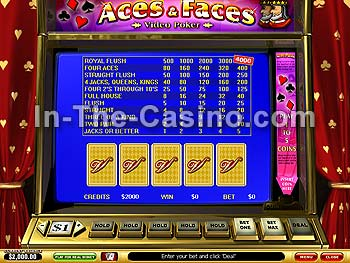 Aces And Faces at Vegas Red Casino