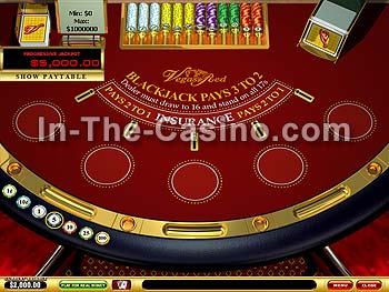 Blackjack Progressive at Vegas Red Casino