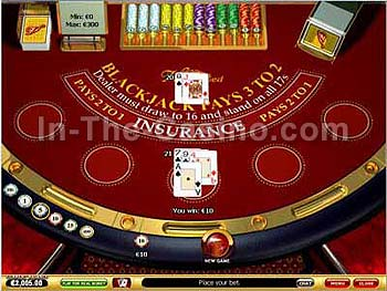 Blackjack at Vegas Red Casino