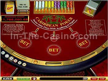 Caribbean Poker at Vegas Red Casino