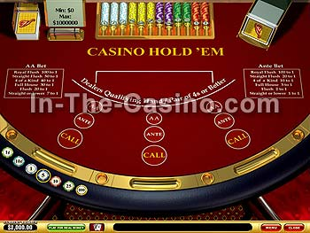 Casino Hold'em at Vegas Red Casino