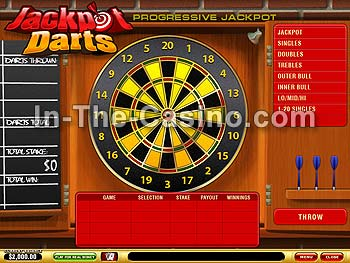 Jackpot Darts en Vegas Red Casino