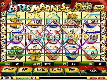 Lotto Madness at Vegas Red Casino