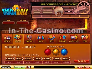 Megaball at Vegas Red Casino