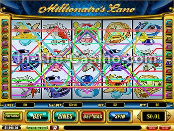 Millionaire's Lane at Vegas Red Casino