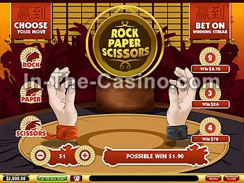 Rock-Paper-Scissors at Vegas Red Casino