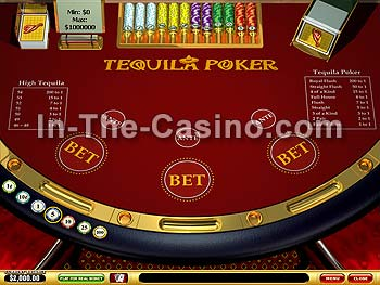 Tequila Poker at Vegas Red Casino