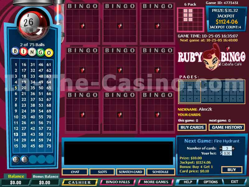 Ruby Bingo - Click for fullscreen