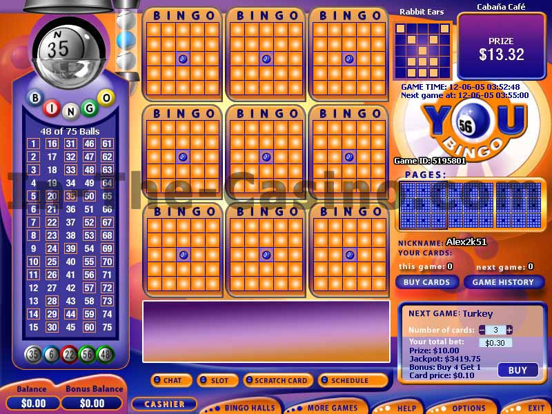 bingo casino games